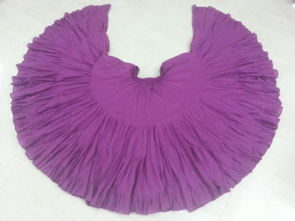 32 Yard Pure Cotton Skirt Fuchsia