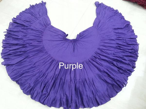 32 Yard Pure Cotton Skirt Purple