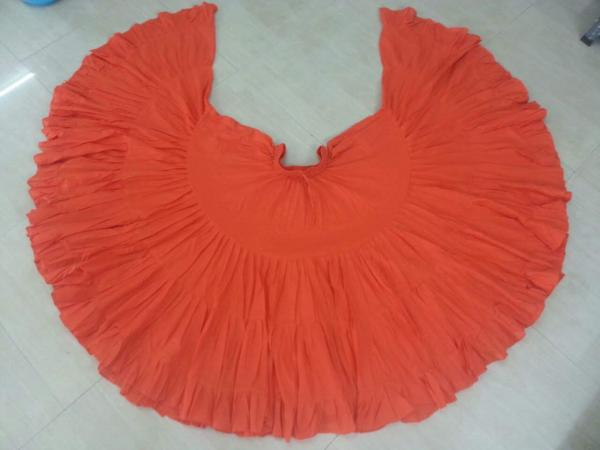 32 Yard Pure Cotton Skirtt Orange