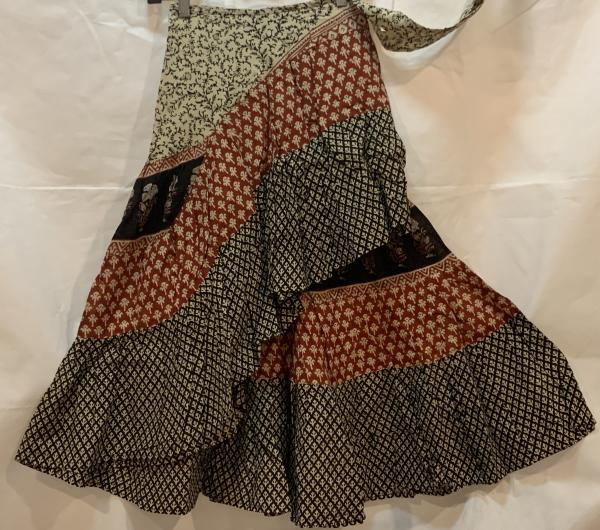 Half Block Print Wrap Skirt BPH34
