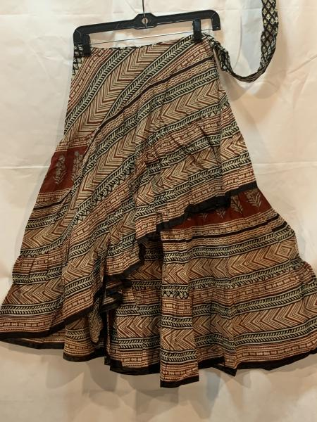 Half Block Print Wrap Skirt 35BPH