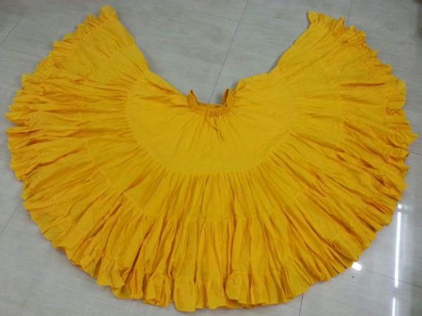 32 Yard Pure Cotton Skirt Yellow