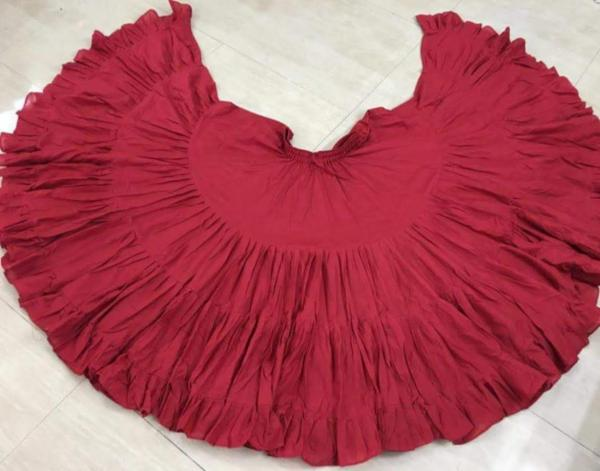 32 Yard Pure Cotton Skirt Red