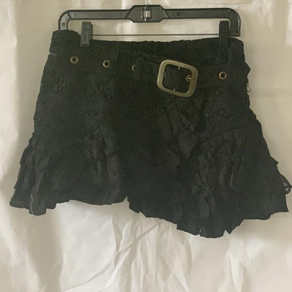 Steam Punk Skirt Short Black