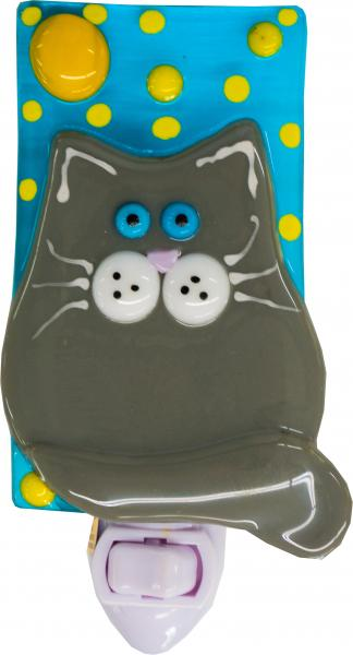 Fat Cat Nightlight- Grey