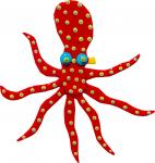 Octopus - Small - Red