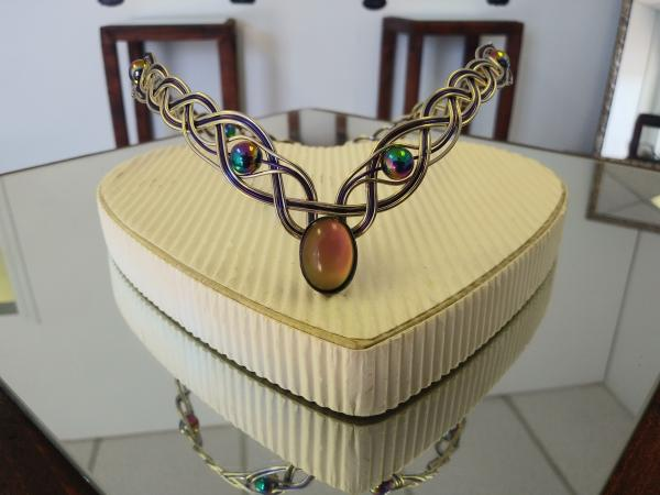 Color Changing Moodstone Beaded Rainbow Diadem