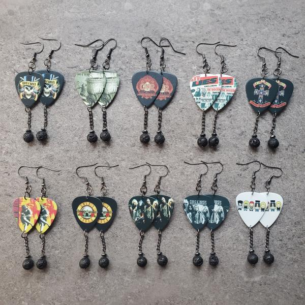 Guns N' Roses Guitar Pick Earrings