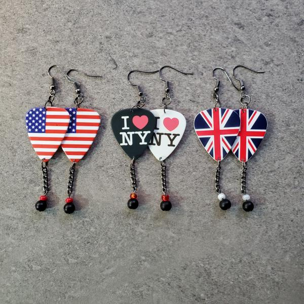 Places Guitar Pick Earrings