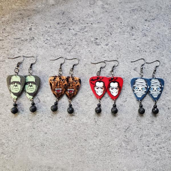 Universal Monsters Guitar Pick Earrings picture