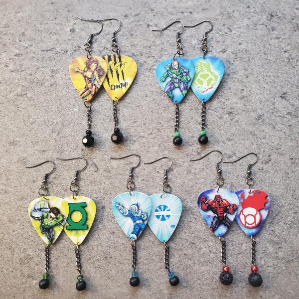 DC Guitar Pick Earrings