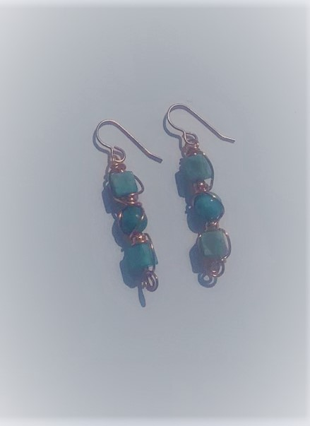 Turquoise Jasper Earrings #620