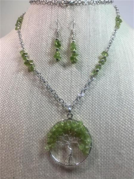 Peridot Tree of Life Necklace #331