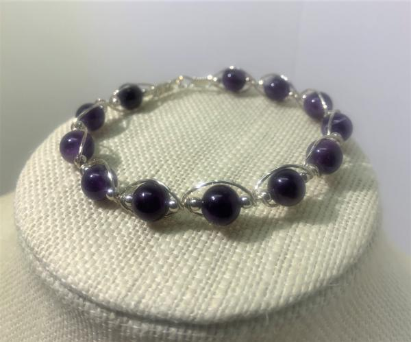 Amethyst Wire Wrapped Bracelet #708