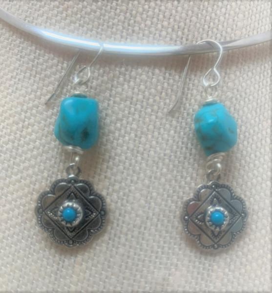 Western Style Turquoise Earrings #1200