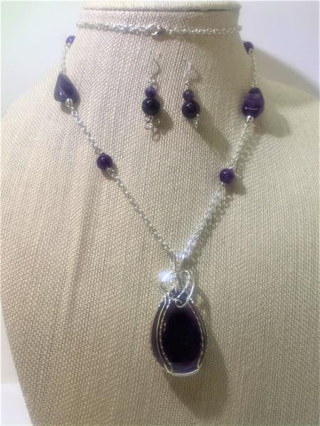 Amethyst Pendant Necklace #432