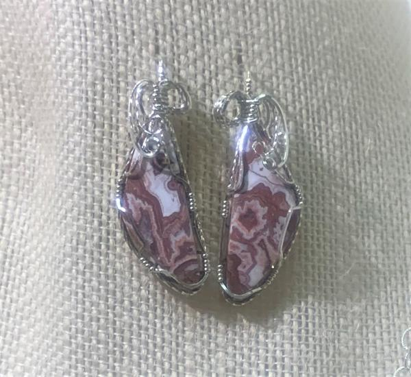 Lace Agate Earrings #110