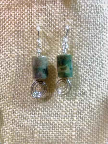 Green Jasper Earrings #338