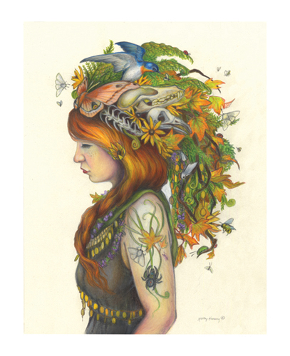 """Autumn"" (Fall Queen) Print, 11 x 14 picture"