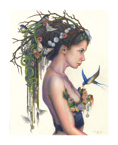 """Flora"" (Spring Queen) Print, 11 x 14 picture"