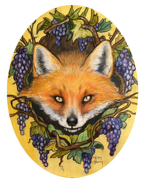 """The Fox and the Grapes""  Print 8.5x11"