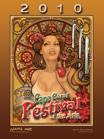 2010 Cape Coral Festival of the Arts Poster