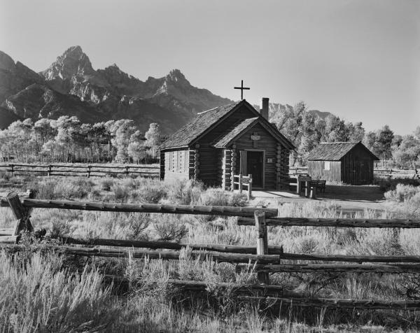 Chapel of the Transfiguration and the Tetons, WY