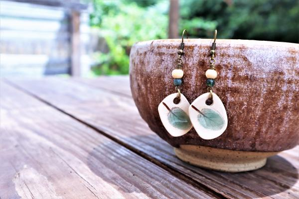 Sage Leaf earrings #9