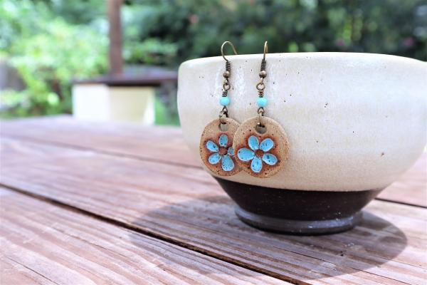 Light blue flower earrings #3