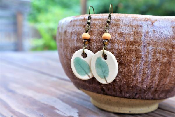 Sage Leaf earrings #2