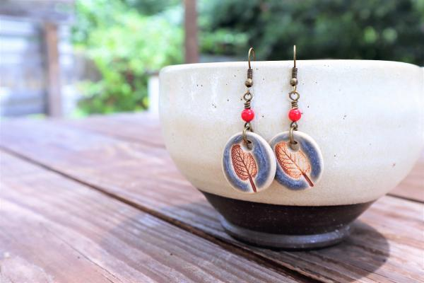 Sage Leaf earrings #5