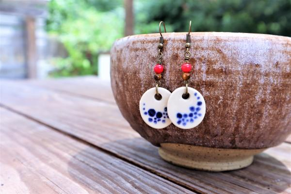 Forget-me-not earrings #4
