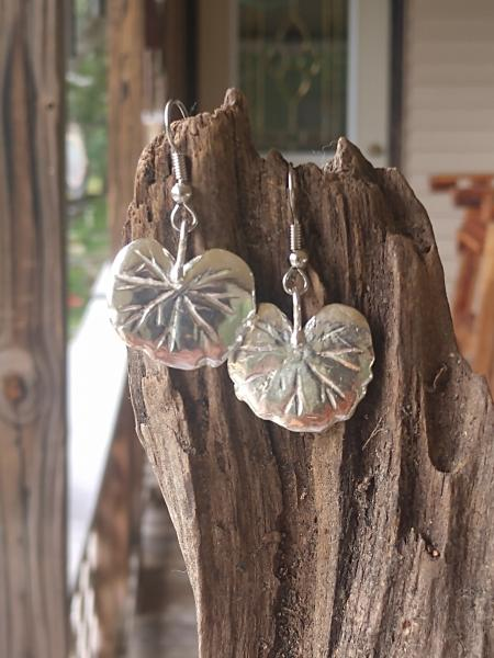 Sterling Silver Ginkgo Leaves