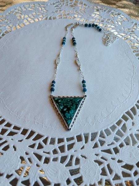 Sterling Silver Crackle Enamel Necklace