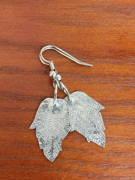 sterling Silver Textured Leafs