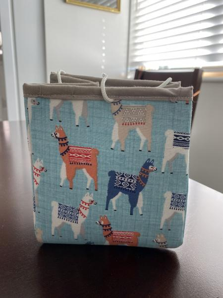 Project Bag - Llamas with Sweaters