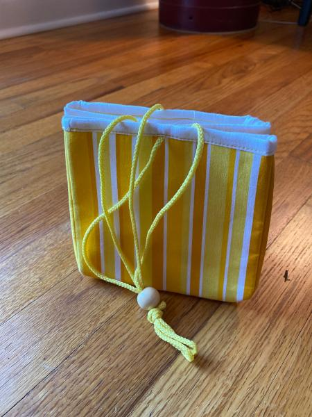 Project Bag - Yellow Stripes