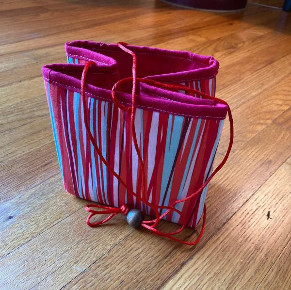 Project Bag - Red Stripes