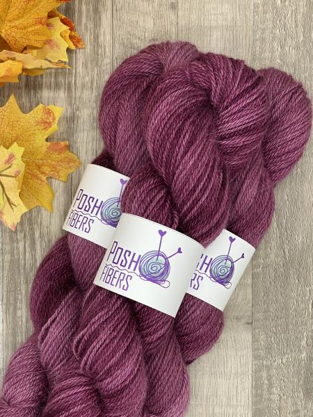 From the Farm - 100% alpaca from Lourdes - Boysenberry Syrup, 200 yds, DK weight