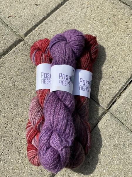 Roses - alpaca - 100 yds, Worsted weight