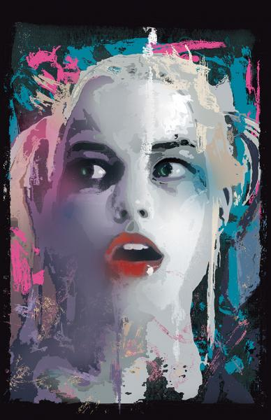 Margot Robbie/ Harley Quinn Splatter Paint