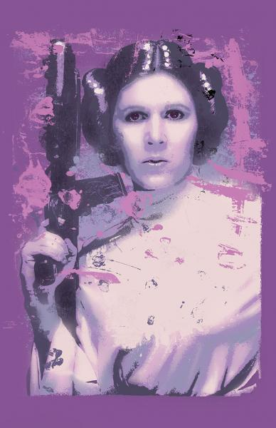 Princess Leia Splatter Paint