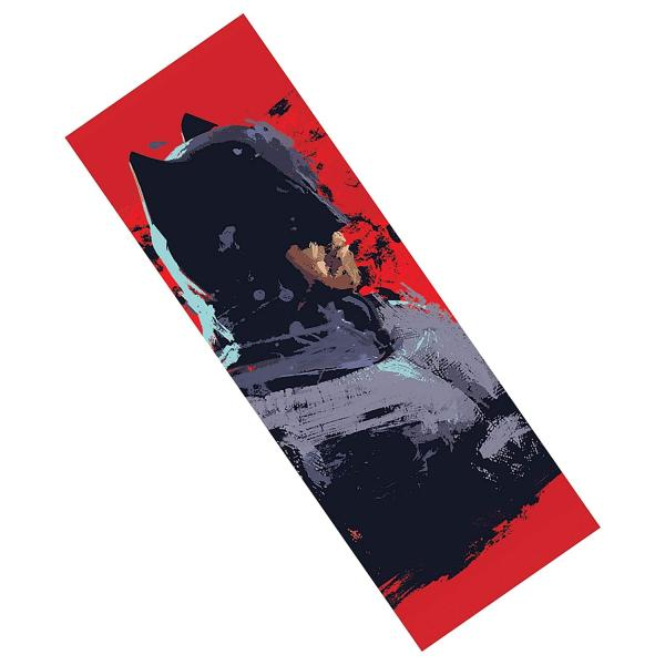 Batfleck Splatter Paint Metal Bookmark