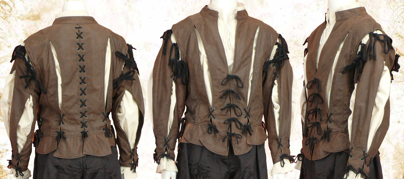 The Tragedian doublet - leather