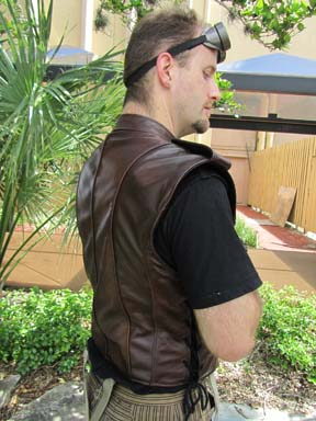 Leather Lapel Vest picture