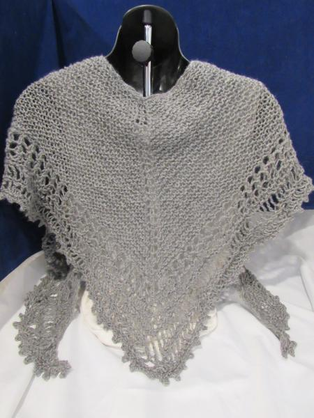 Open Knit Grey Shawl (p-134)
