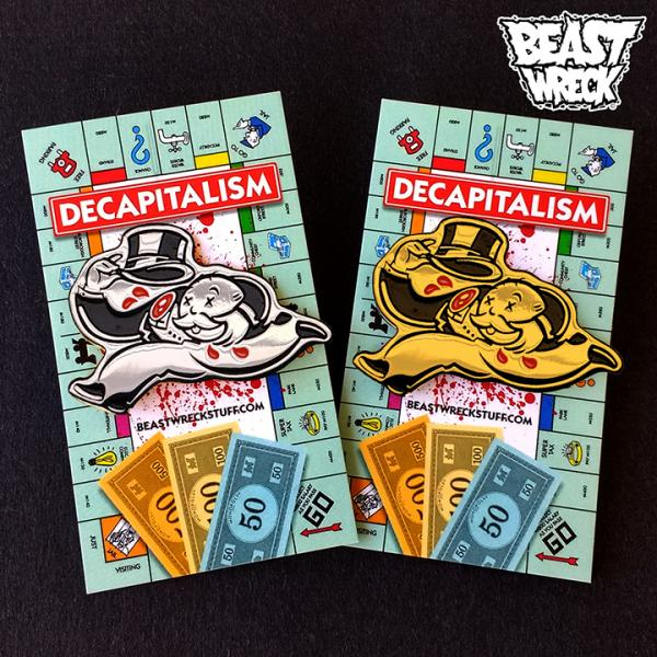 DECAPITALISM Enamel Pin