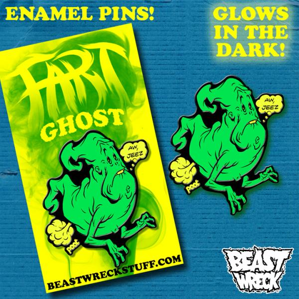 FART GHOST Enamel Pin