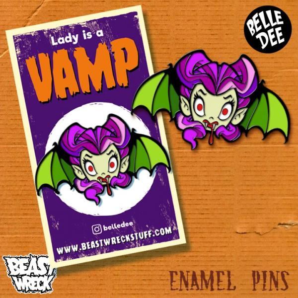 LADY IS A VAMP Enamel Pins