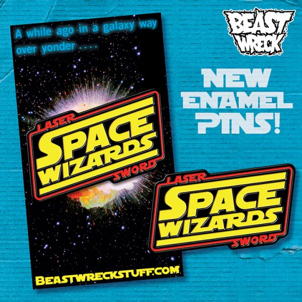 LASER SWORD SPACE WIZARDS Enamel Pin